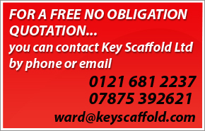 contact Key Scaffold for all scaffolding hire in Birmingham West Midlands